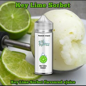 Big Vapes Lime Sorbet e-Liquidis a super refreshing ejuice made up from juicy key limes followed by a moderate cooling sensation.