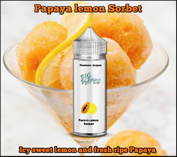 Papaya lemon Sorbet e-Liquid