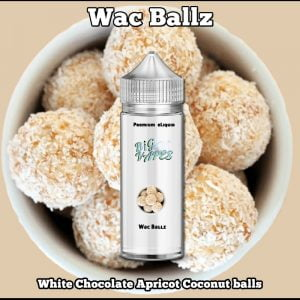 Wac Ballz White Chocolate Apricot Coconut ejuice