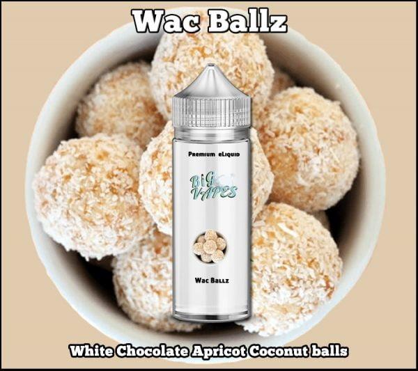 Wac Ballz White Chocolate Apricot Coconut ejuice