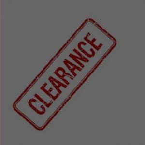 * Clearance Items