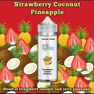 Strawberry Coconut Pineapple e-Liquid. A Juicy Blend of Strawberries, Coconut and Pineapple flavoured ejuice.