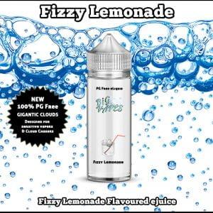Fizzy Lemonade PG FREE, 100% VG ejuice.